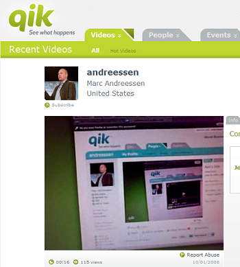 Netscape's cofounder is an investor in Qik
