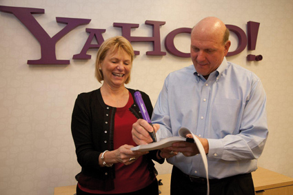 Steve Ballmer, Chief Executive Officer, Microsoft and Carol Bart