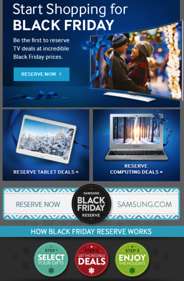 Samsung Black Froday Promo Email