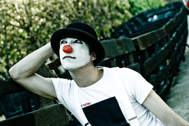 Think Thought Mime Clown