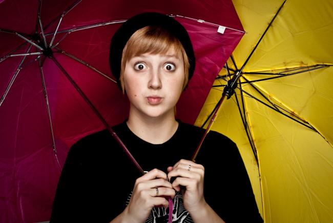 Woman Umbrella OMG