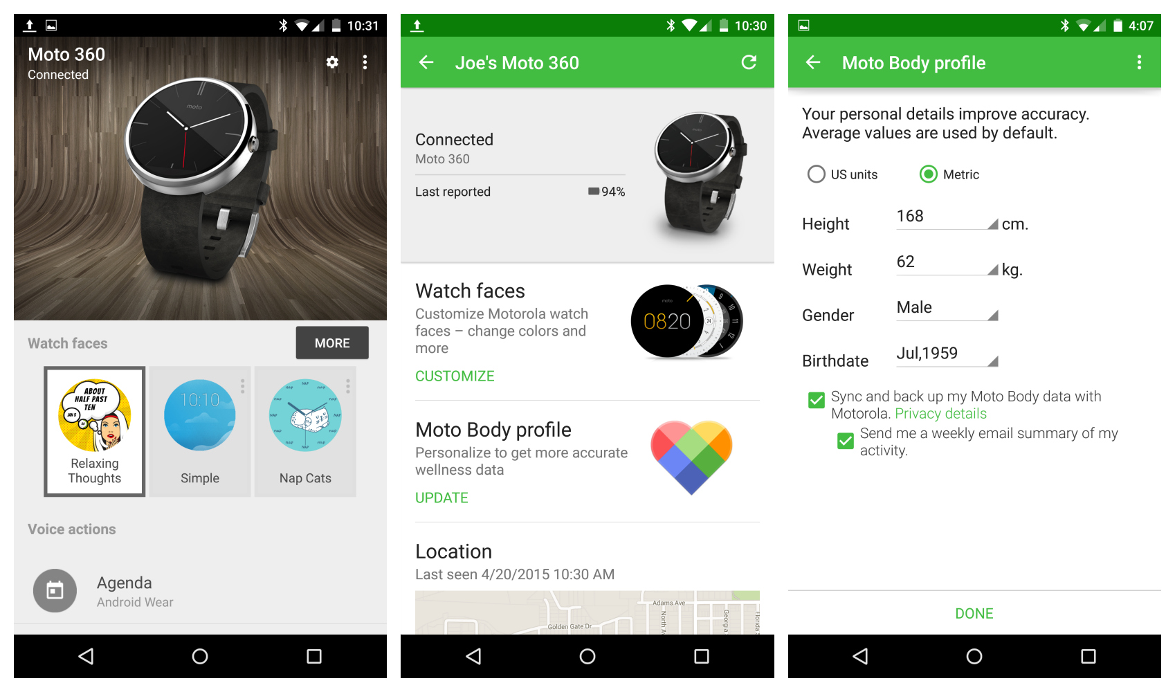Android Wear and Motorola Connect