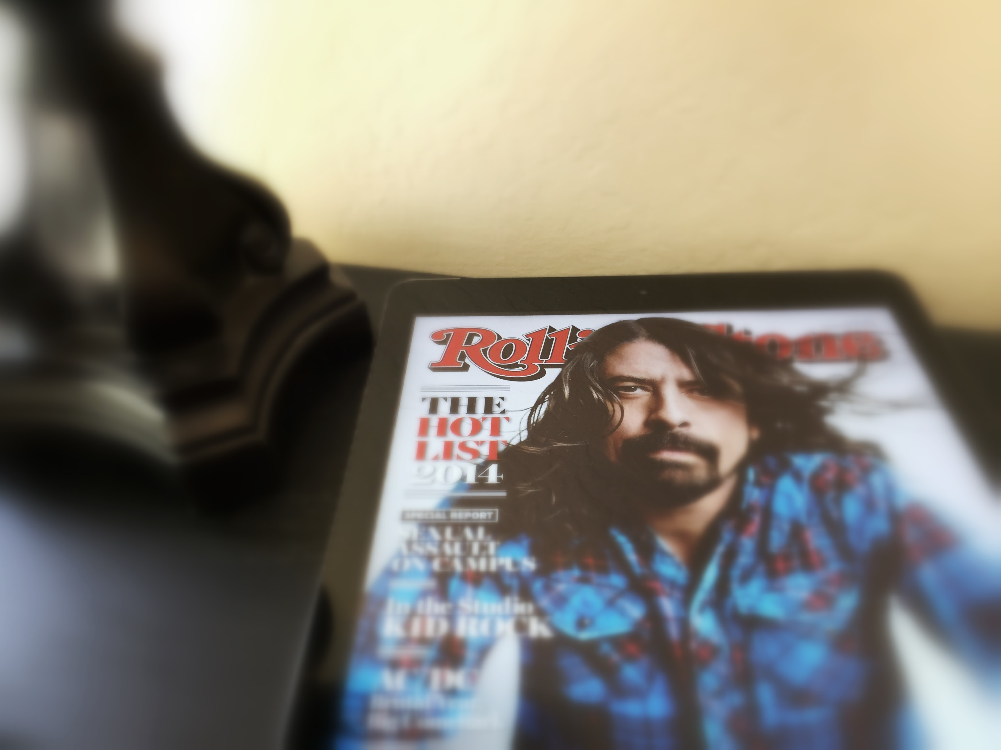 Rolling Stone on tablet