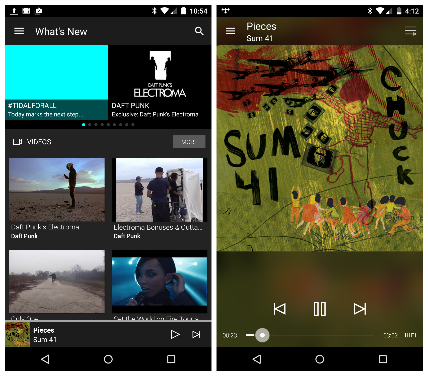 Tidal Android App