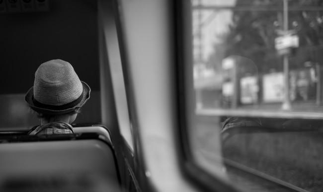 Woman Hat Train