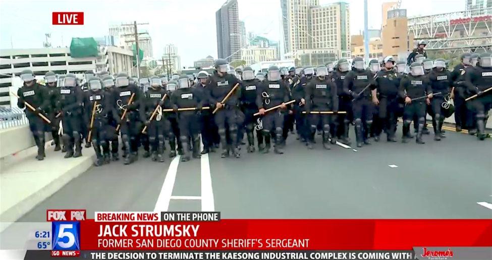 Sand Diego Police Trump Rally