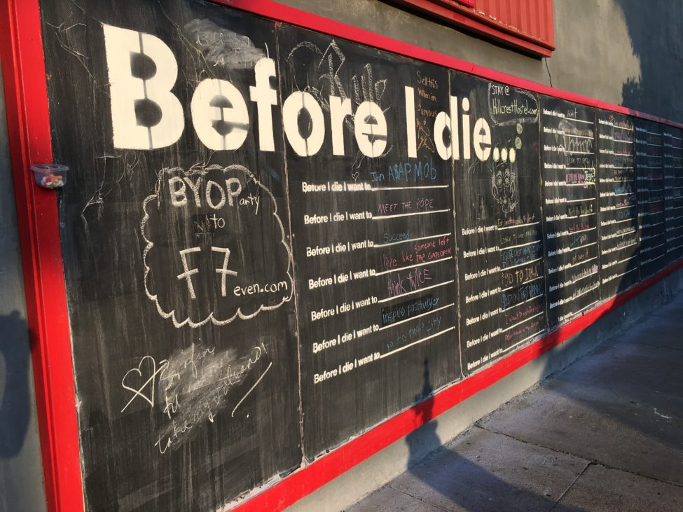 Before I Die Left